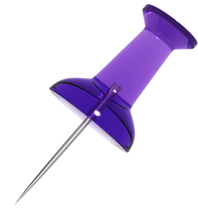 purple transparent push pin Pinterest Logo Collection
