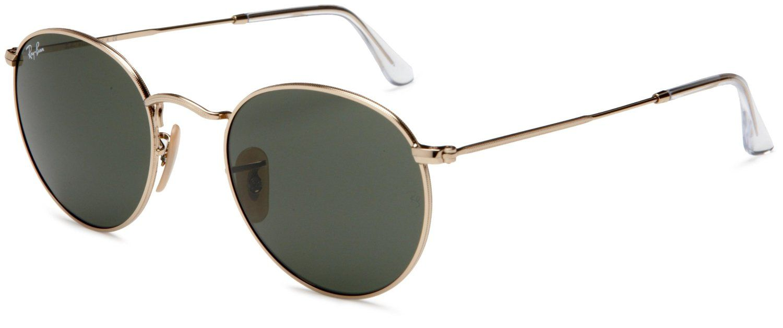 134cba4b7 Amazon.com: Ray-Ban ORB3447 029 Round Sunglasses,Gunmetal Frame/Crystal  Green Lens,50 mm: Ray-Ban: Clothing $93.84
