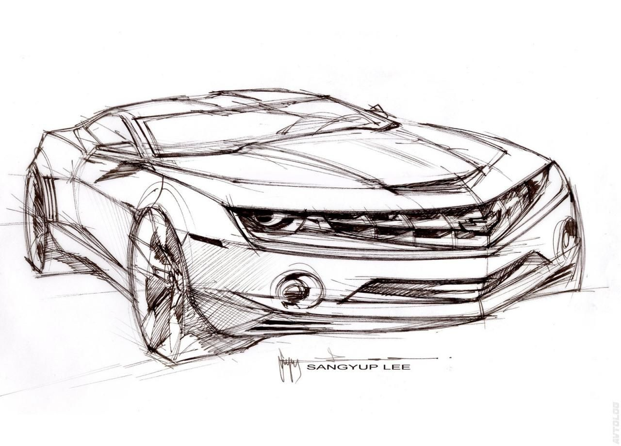 2010 Chevrolet Camaro Car Design Sketch Cool Car Drawings Car Design