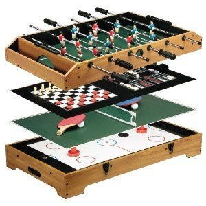 Franklin Sports Deluxe 6 In 1 Game Center #Game Table #Foosball #Ping Pong
