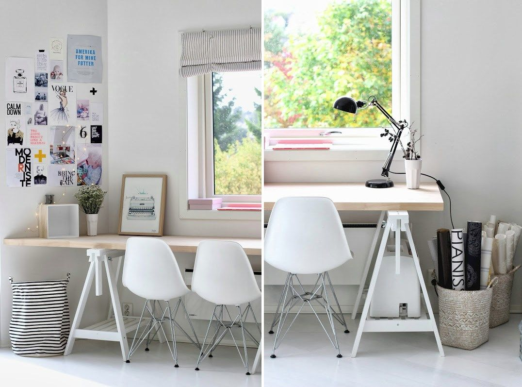 home office wood desk. Wood Desks For Home Office. 15 Offices Featuring Trestle Tables As Office Desk