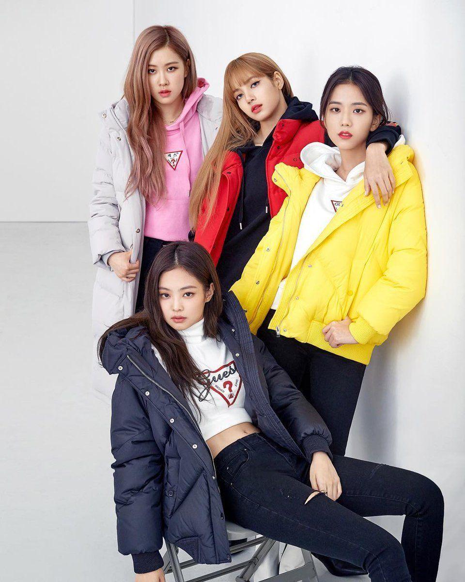 Blackpink Guess 2018 Black Pink Kpop Black Pink Blackpink Fashion