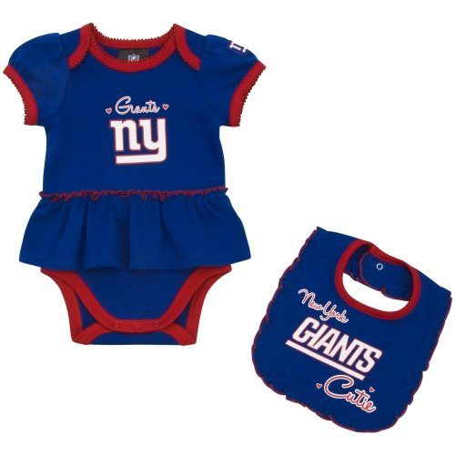 size 40 b57f8 026d7 Gerber New York Giants Infant Girls Skirted Onesie & Bib Set ...