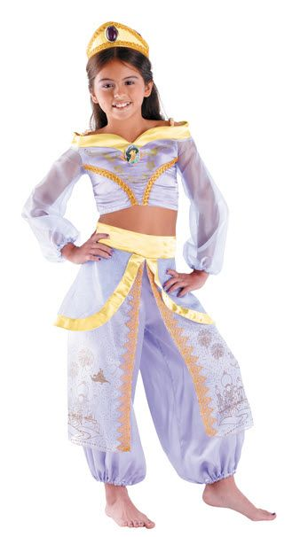 Jasmine Costume Jasmine Prestige Child Costume The Beautiful Disney Princess  From Aladdin! Costume Includes:Top With Character Cameo,full Leg Pant