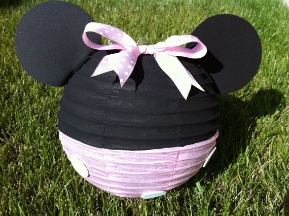 Minnie Mouse Inspired Paper Lantern Decoration in Red by ...
