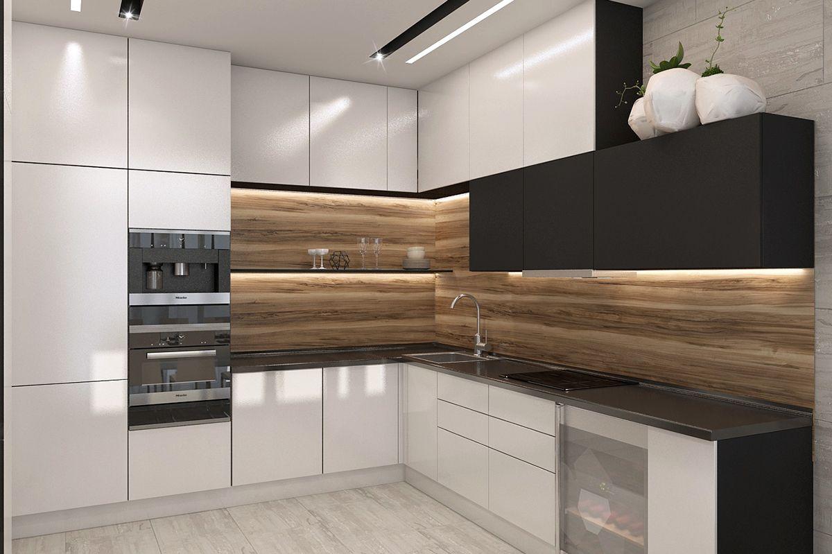 Apartament In Modern Style On Behance Kitchen Room Design Modern Kitchen Design Modern Kitchen Interiors