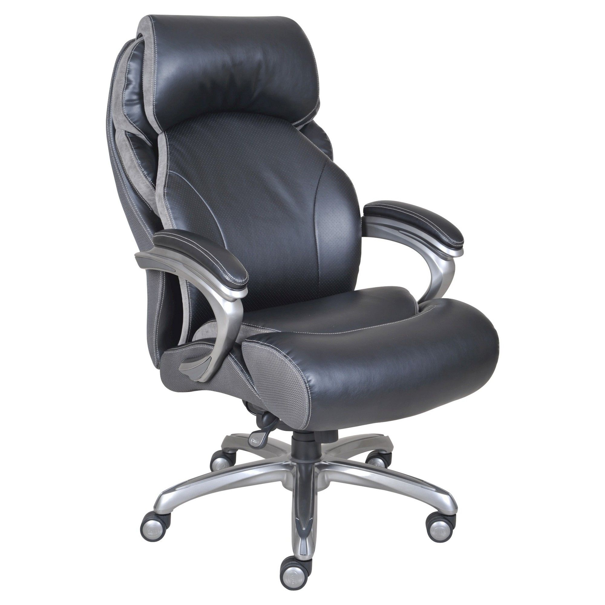 big man office chair. Big \u0026 Tall Smart Layers Premium Elite Executive Chair With Air-Bliss Black Multi-Tone-Leather - Serta Man Office I