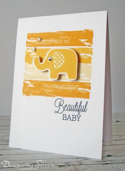 Beautiful Baby Yellow Card By Simone N Cards And Paper Crafts At Splitcoaststampers Paper Crafts Baby Yellow Baby Design