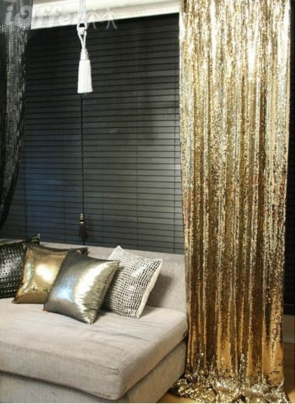 I Am Not As Glamorous Read Tacky Once Was But That Part Of Me Sees Nothing Wrong About GOLD SEQUIN CURTAINS