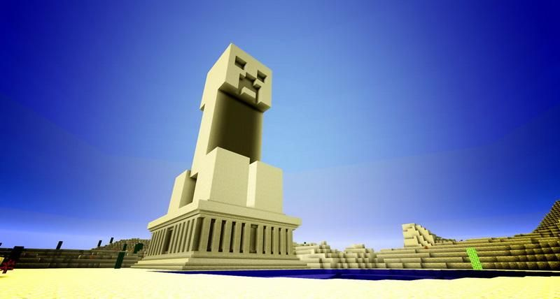 Creeper Monument Minecraft Minecraft Statues Minecraft Blueprints