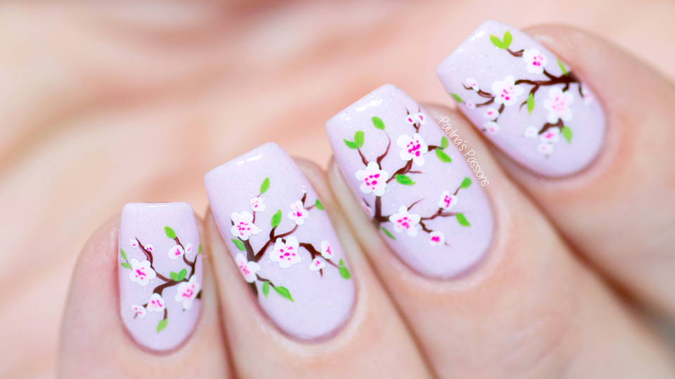 Cherry Blossom Nail Art Tutorial Picture Polish