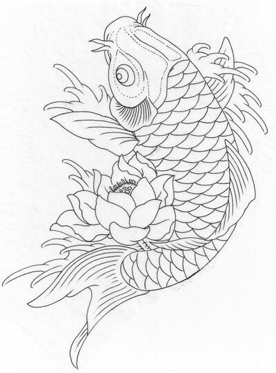 Koi coloring page | Coloring books idea | Pinterest | Koi, Falso ...