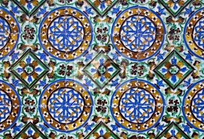papier peint azulejos carrelage d tail art islamique. Black Bedroom Furniture Sets. Home Design Ideas