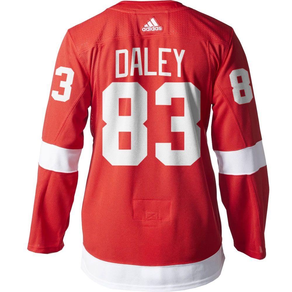Trevor Daley Detroit Red Wings Men S Adidas Authentic Home Jersey Detroit Red Wings Red Wings Adidas Men
