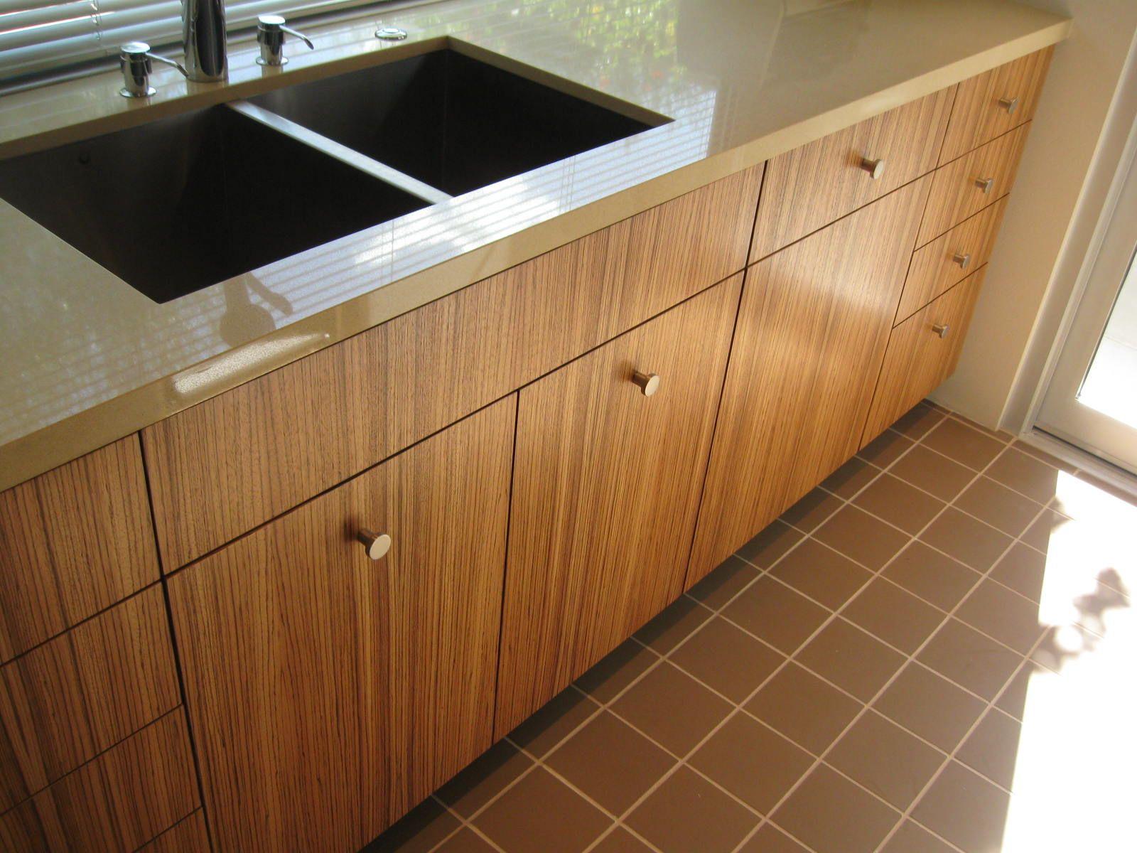 Semihandmade Zebrawood Ikea Kitchen In Palm Springs Ca Ikea Cabinets Custom Cabinet Doors Zebra Wood