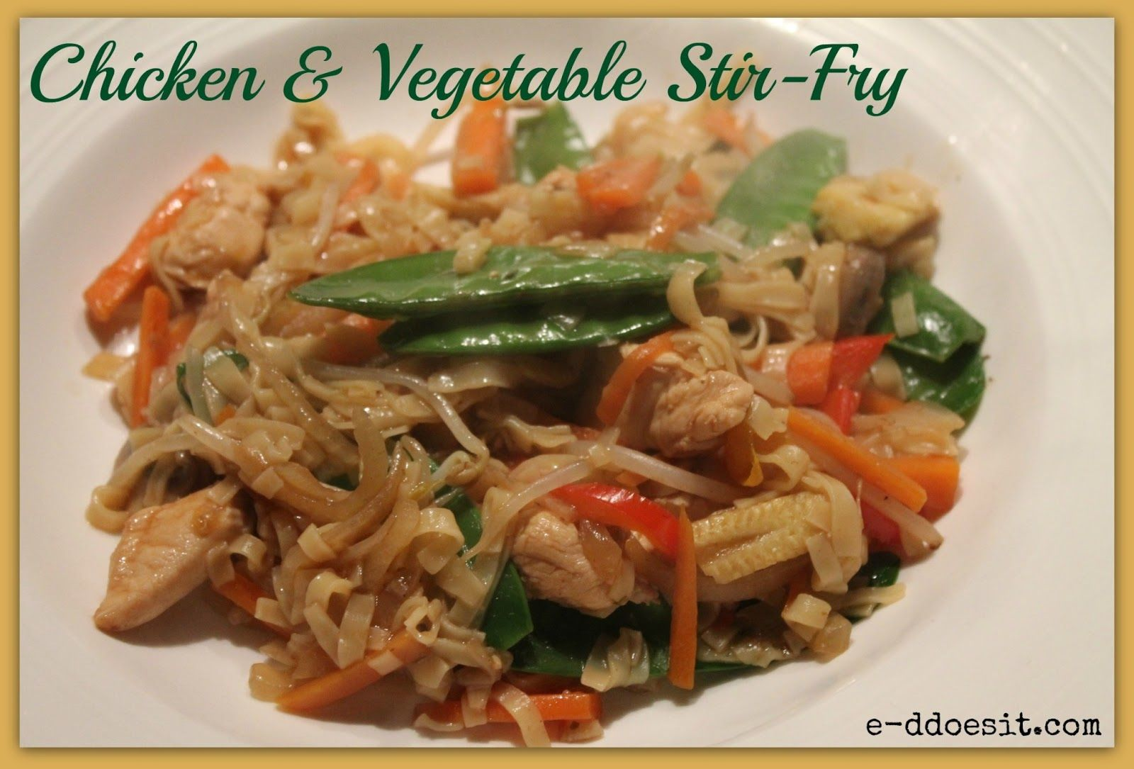 Ed does it chicken and vegetable stirfry stir fry