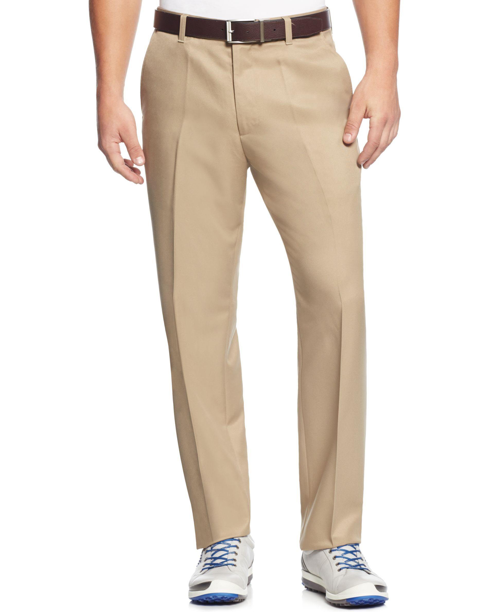 Greg Norman for Tasso Elba Men's 5 Iron Flat Front Golf Pants - Pants - Men  - Macy's