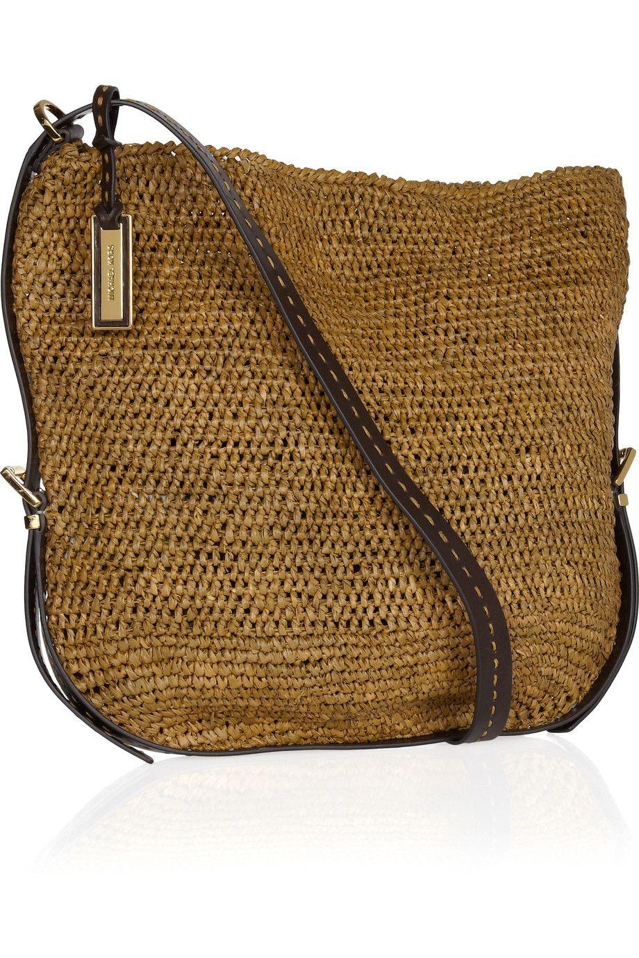b2c1cceb3c51d4 large raffia & straw crossbody bag, by michael kors | Beach ...