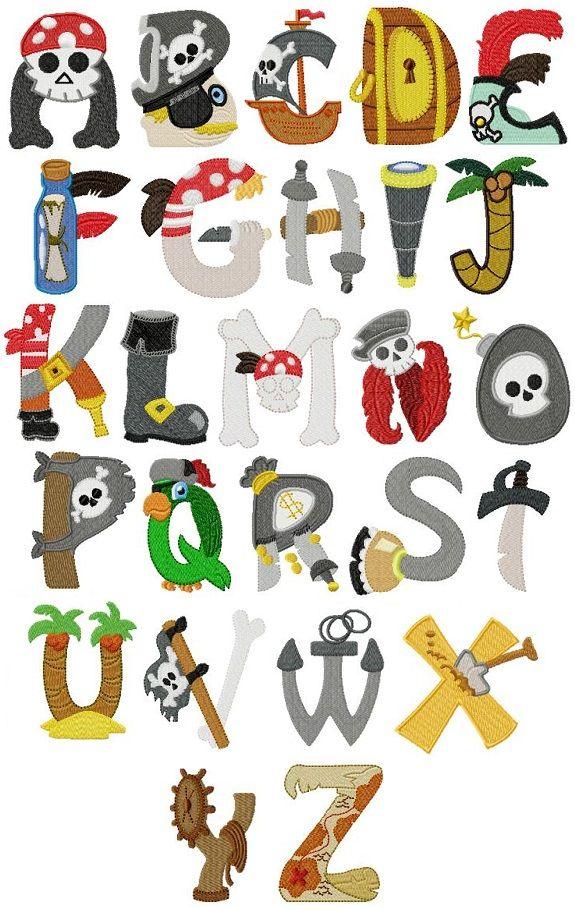 Alfabeto piratas ni os pinterest piratas alfabeto y - Letras decorativas para ninos ...