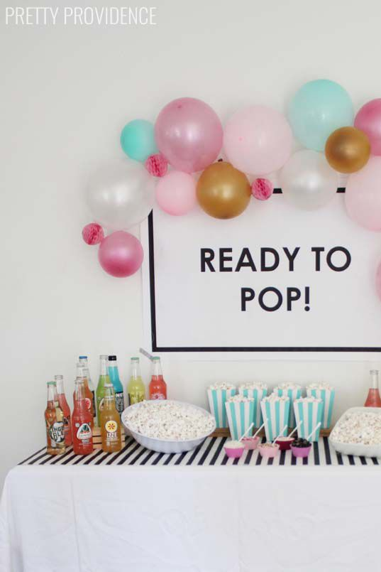37 Creative Baby Shower Food And Decorating Ideas Popcorn Bar