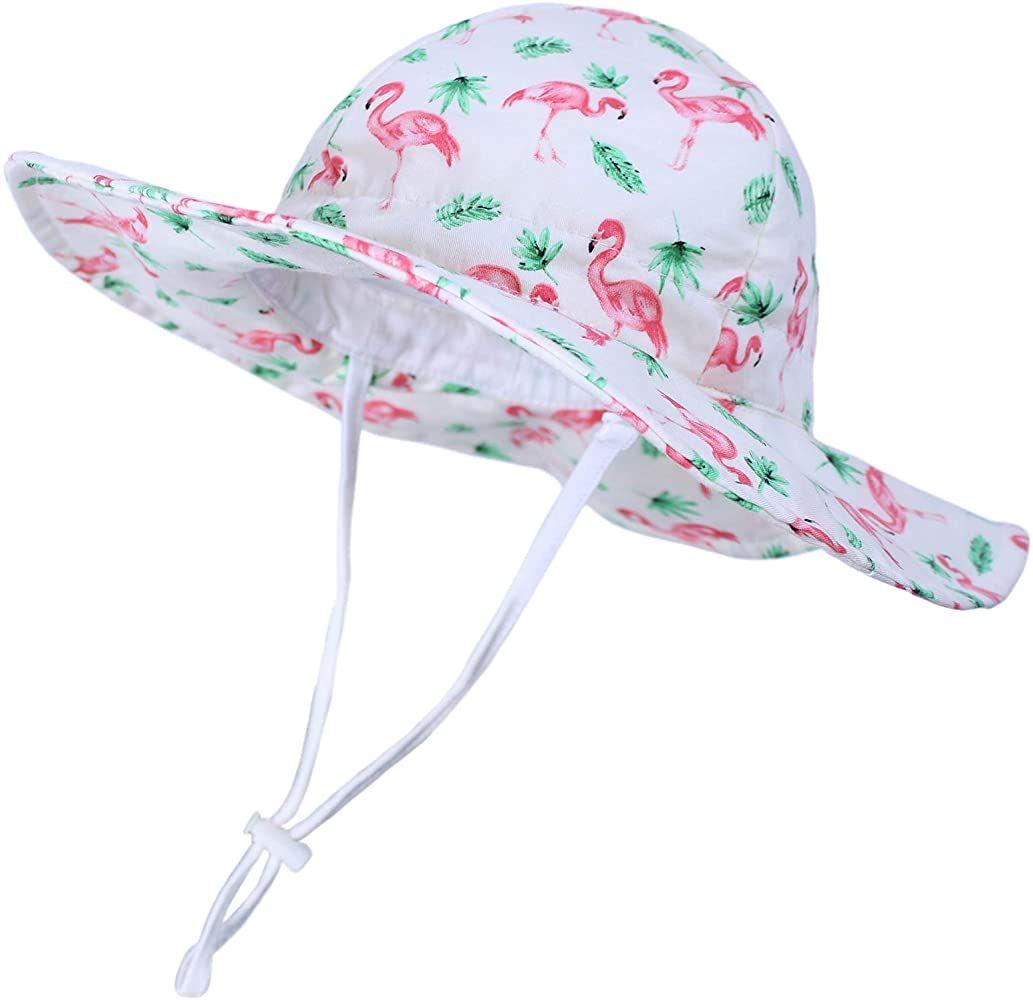 Amazon Com Baby Sun Hat Toddler Summer Baby Girls Hats Kids Beach Hat Upf 50 Wide Brim Bucket Hat For Boys Girls Cu Baby Sun Hat Baby Girl Hats Girl With Hat