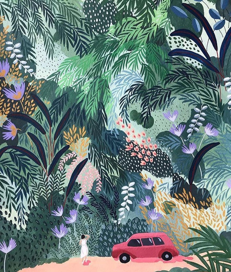 in the garden we ll grow beautiful things illustration detail by dizzypunk with images jungle illustration illustration art ohkii studio pinterest