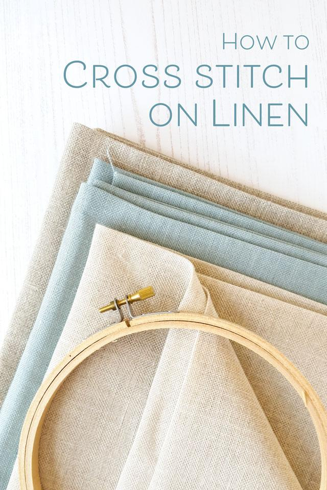 Photo of How to cross stitch on linen fabric