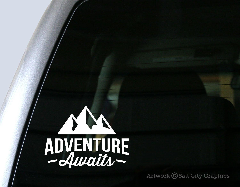 Bumper sticker design tips - Adventure Awaits Decal Vinyl Sticker Vinyl Decal Car Decal Laptop Sticker Window Or Bumper Sticker