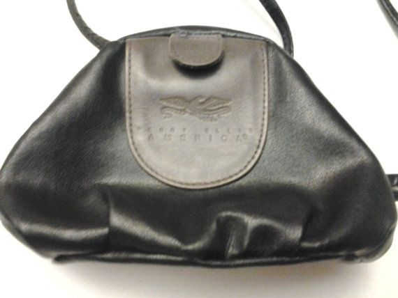 Vintage Perry Ellis America Black Leather Small Purse on Etsy, $18.00