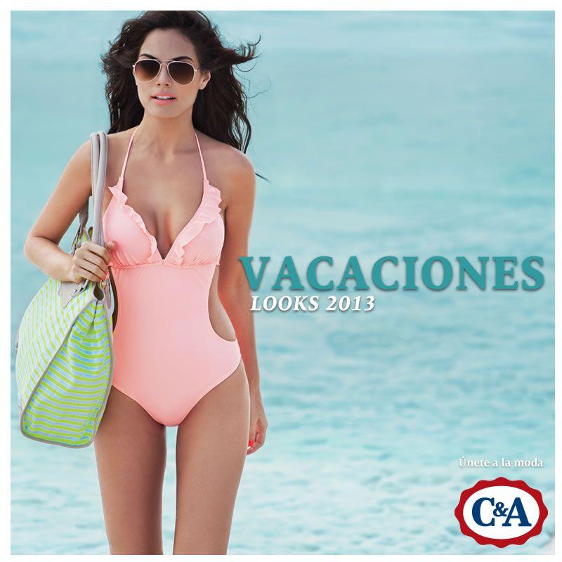 4e5832314c86 Vacaciones! C&A 2013 con Ximena Navarrete | Campañas C&A | Trajes de ...