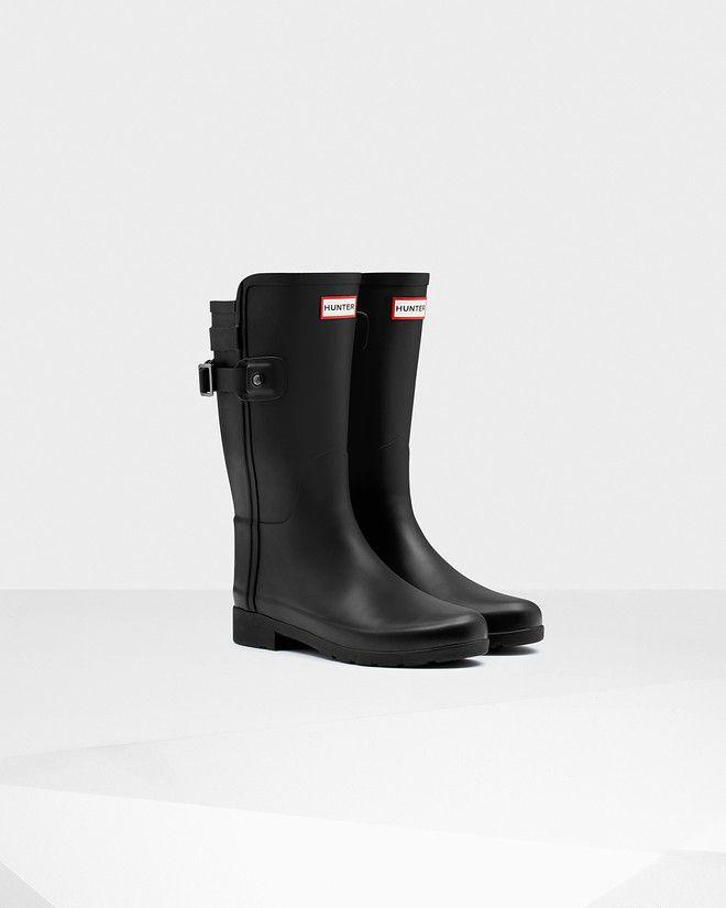 Womens Original Short Refined Back Strap Rain Boots