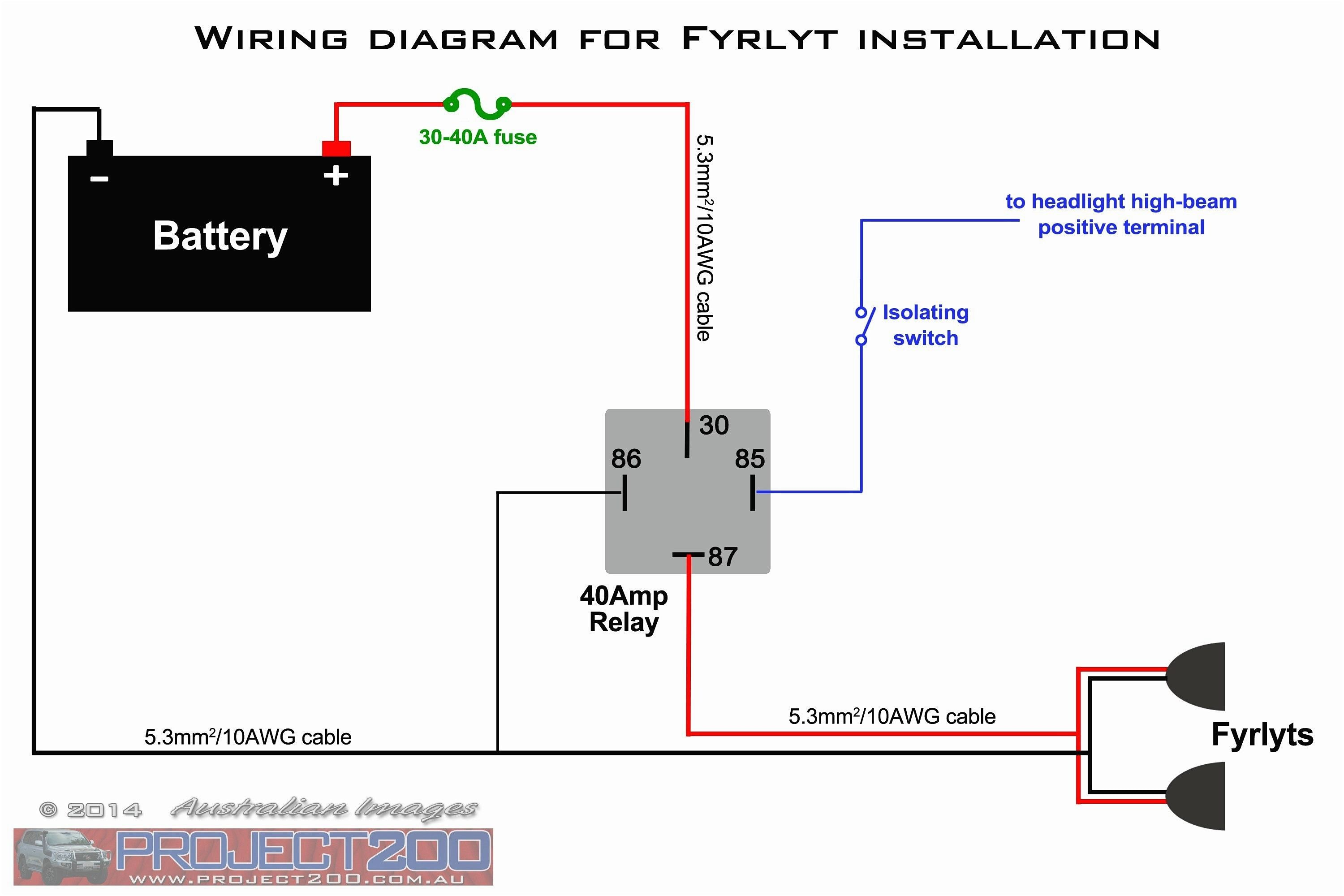 5 Pin Relay With Diode Wiring Diagram