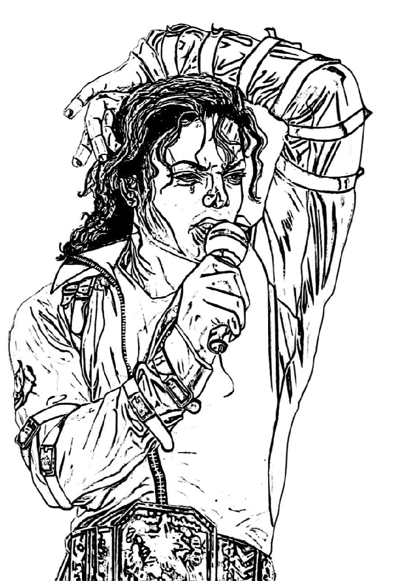 Michael Jackson King Of Pop Coloring Pages Educative Printable