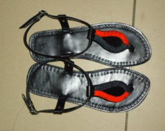 Gladiator Masai Beaded Sandals/ Flipflops