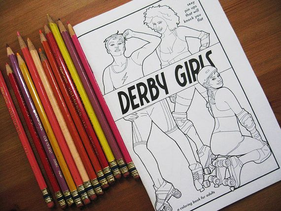 Derby Girls - a Coloring Book for Adults   Roller girls   Pinterest