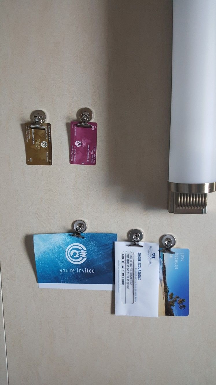 Cruise hack   bring magnet clips   all walls on cruise ships are