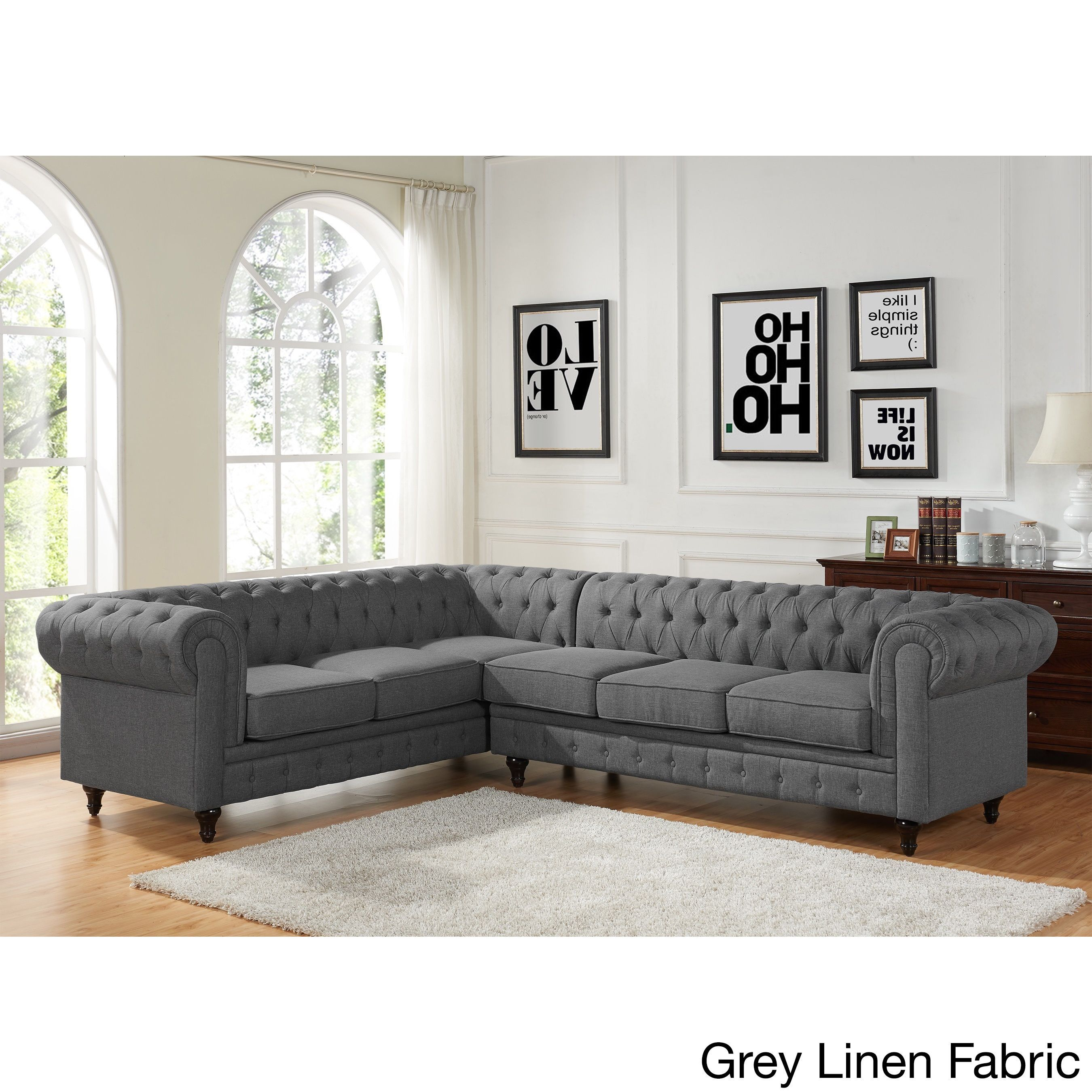 US Pride Furniture Sophia Modern Style Tufted Rolled Arm Right ...