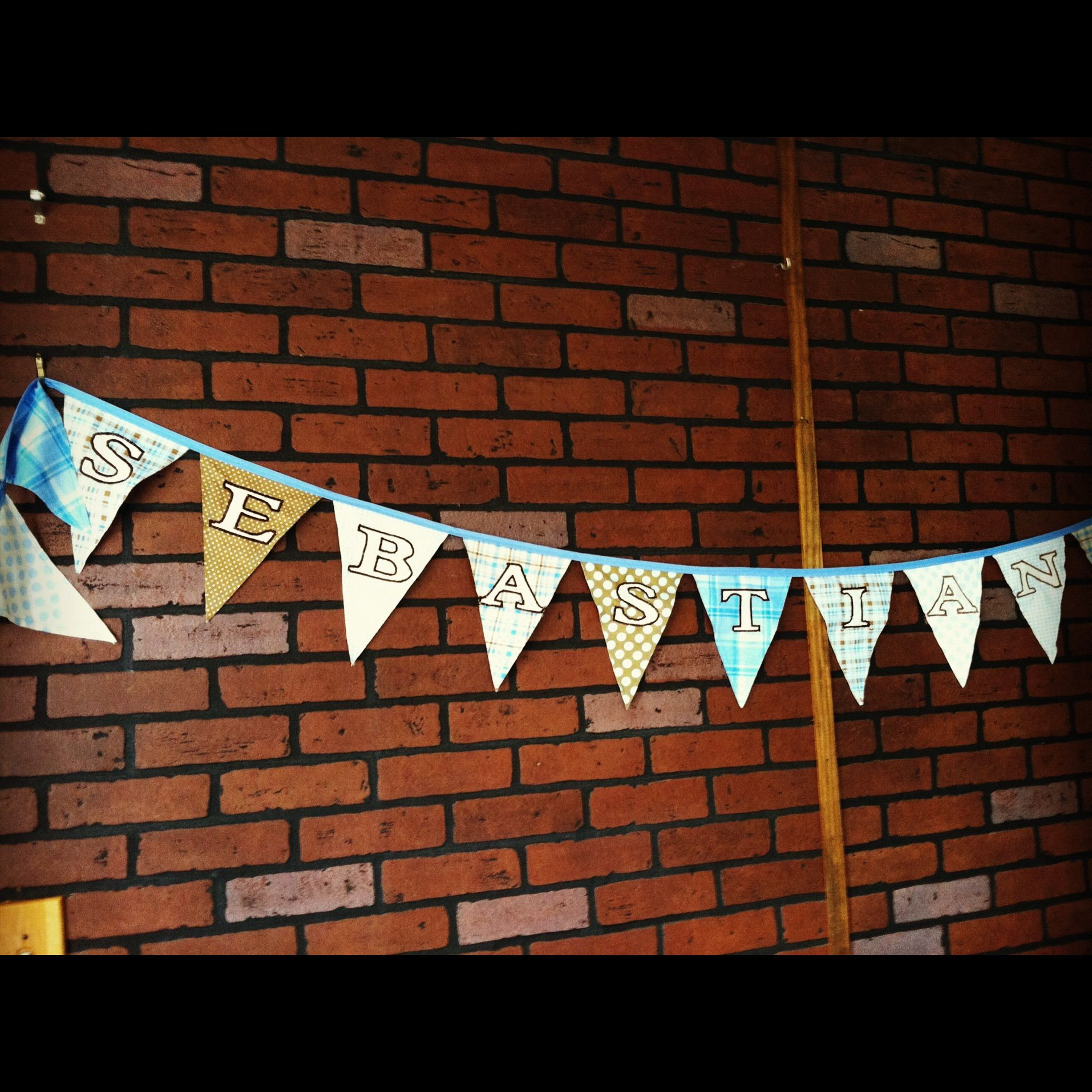 """Pennant Banner with """"Vintage Varsity"""" lettering"""