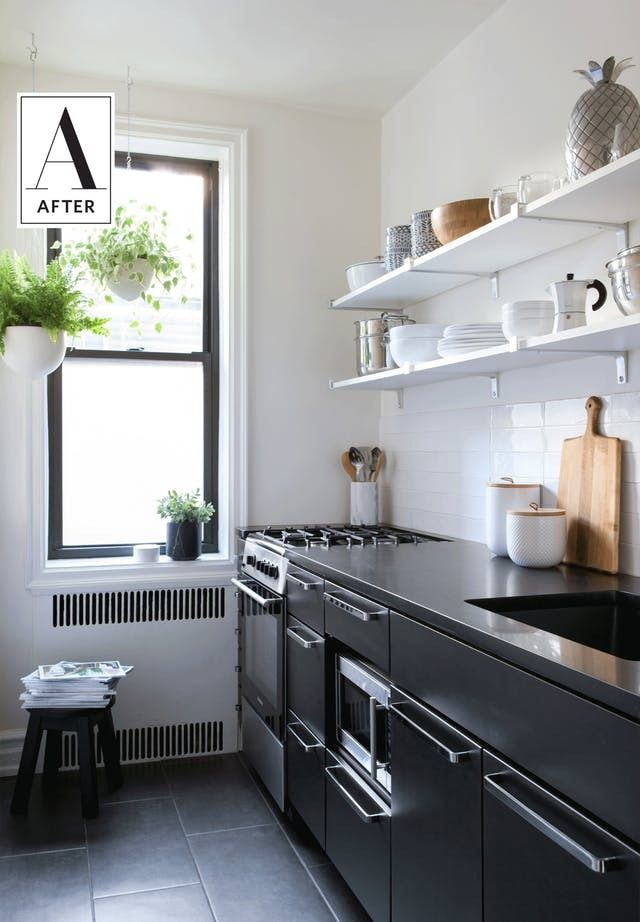 Before & After: A Small Brooklyn Apartment Gets a Makeover   The apartment has three main spaces — an open foyer, a large room that needed to be her living room, bedroom and office rolled into one and a tiny kitchen she wanted to modernize. Let's see how she tackled each of these spaces to suit her needs and her style.
