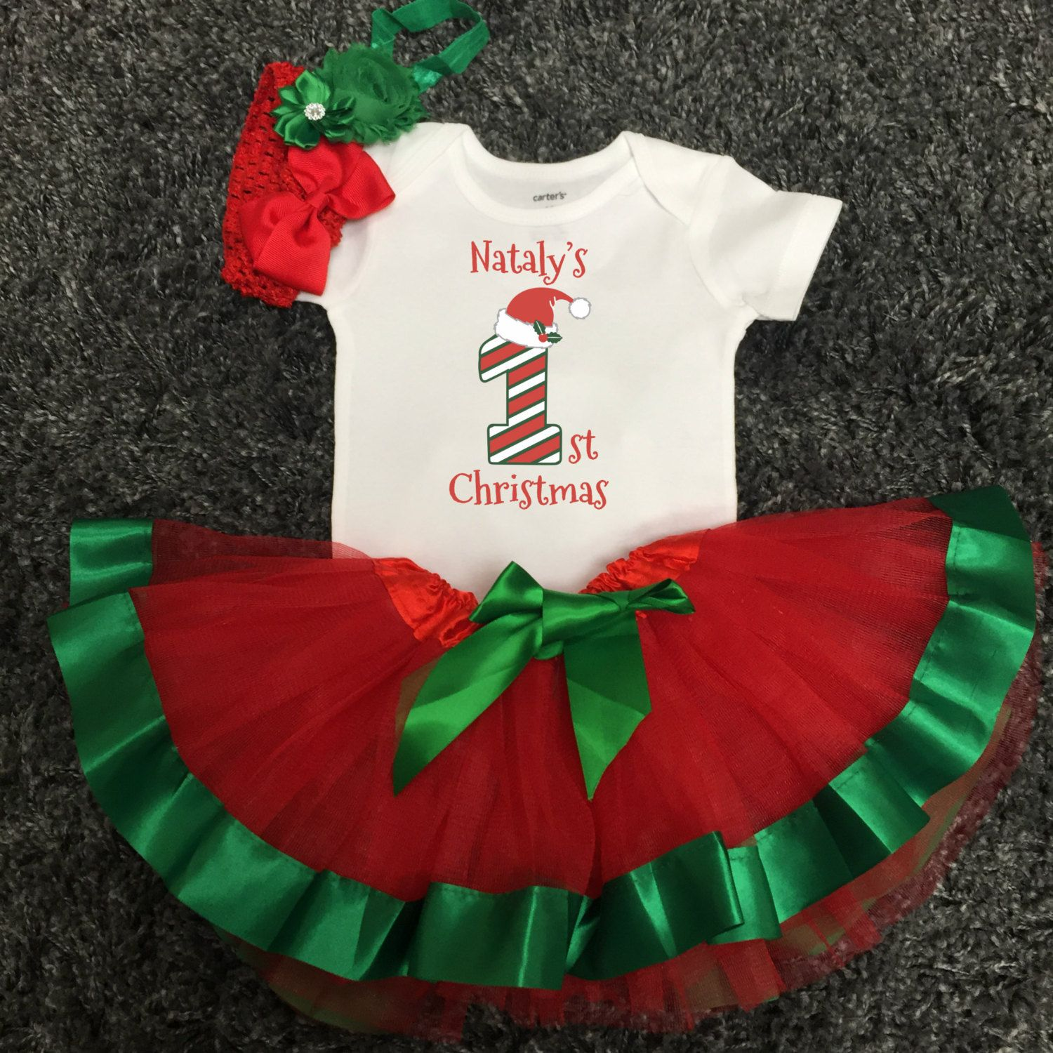 Babys first Christmas outfit