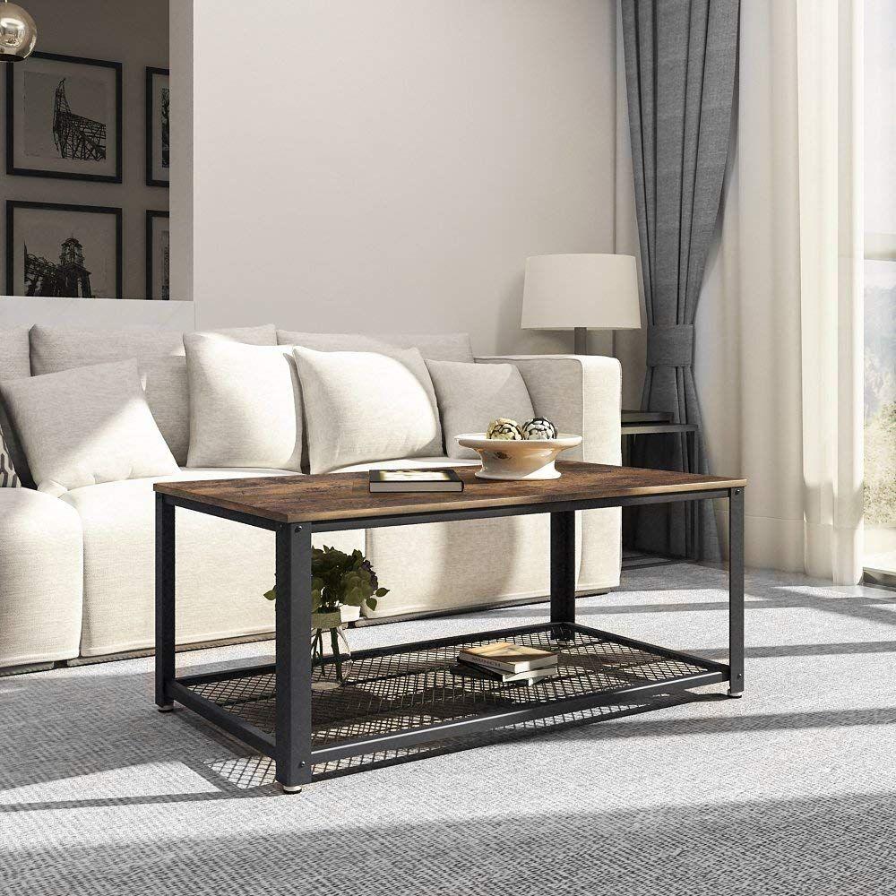 Table Basse Grand Salon songmics table basse de salon armature en métal style