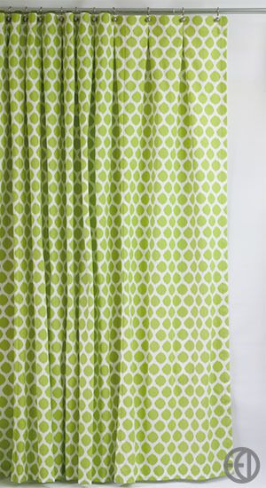 Extra Long Lime Green Ikat Cotton Fabric Shower Curtain Decorating Ideas Pinterest Master
