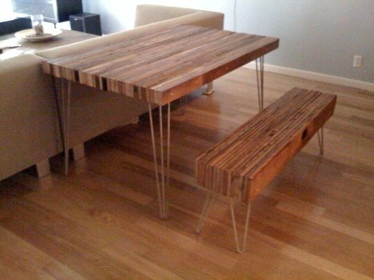 DIY Reclaimed Wood Table & Bench from re-nest. I LOVE this! - DIY Reclaimed Wood Table & Bench From Re-nest. I LOVE This