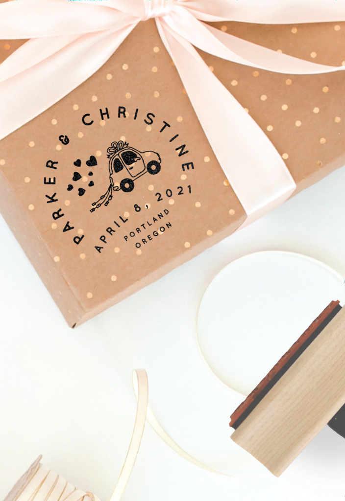 Wedding Rubber Stamping.One Sweet Wedding Collection Wedding Logo Stamped Clay Wedding