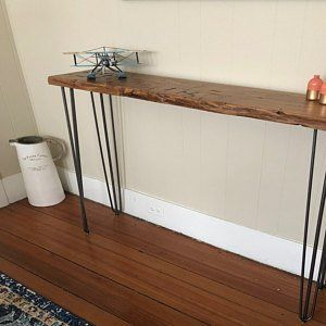 Narrow console table, Reclaimed Wood Table, Accent Table ...