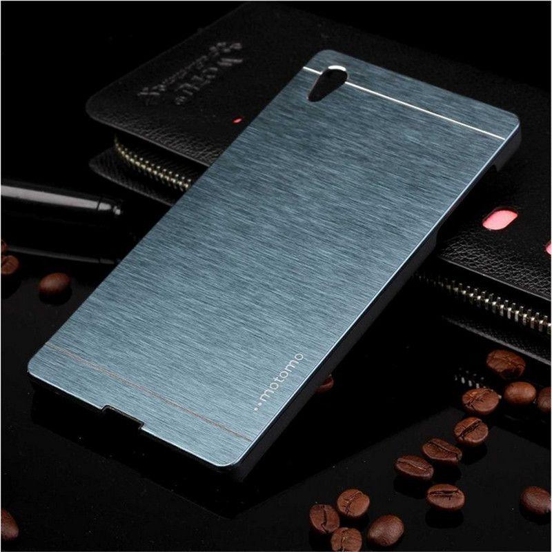 Für sony xperia z3 compact case motomo brushed aluminum hard case für sony xperia z3 compact m5 m4 z3 z4 z5 zurück abdeckung M5