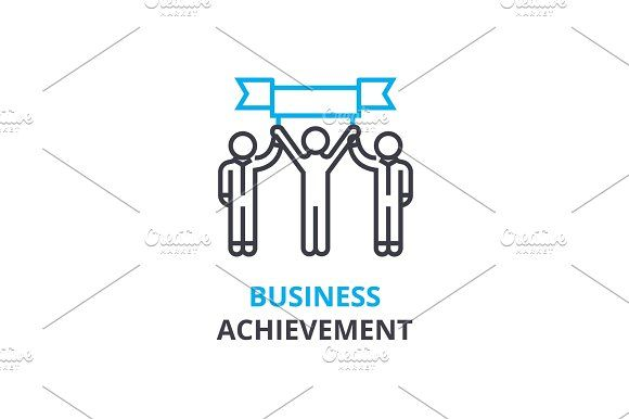 Business achievement concept outline icon linear sign thin line business achievement concept outline icon linear sign thin line pictogram logo flat vector illustration by urban icon on creativemarket pinterest ccuart Images