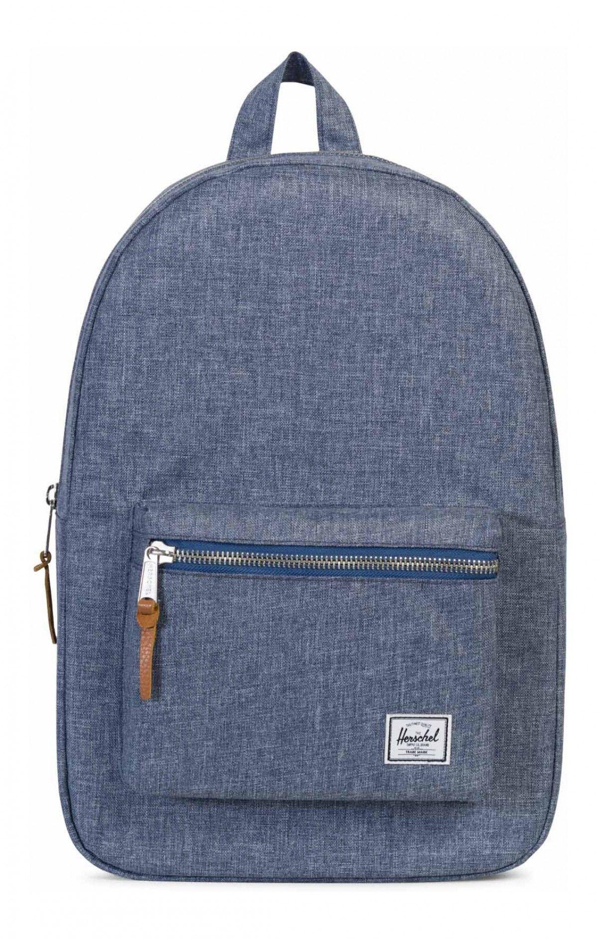 45681a92c65 Bag · Herschel Settlement Backpack 600D Poly Dark Chambray Crosshatch
