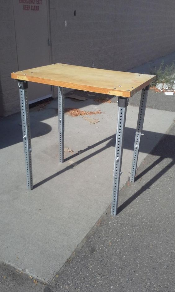 Adjustable Height Table Legs By Eclecticneophyte I Had An Epiphany One Day And This Was The Result Adjustable Height Table Diy Table Legs Adjustable Table