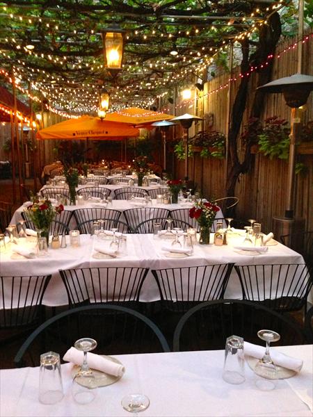 Orsos Restaurant Garden Weddingsrehearsal Dinners Rehearsal